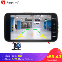 "Junsun H7 Car DVR Camera Dual Lens IPS 4.0"" Full HD 1296P Video Recorder Registrator Night Vision Car Camcorder DVRs Dash Cam(China)"