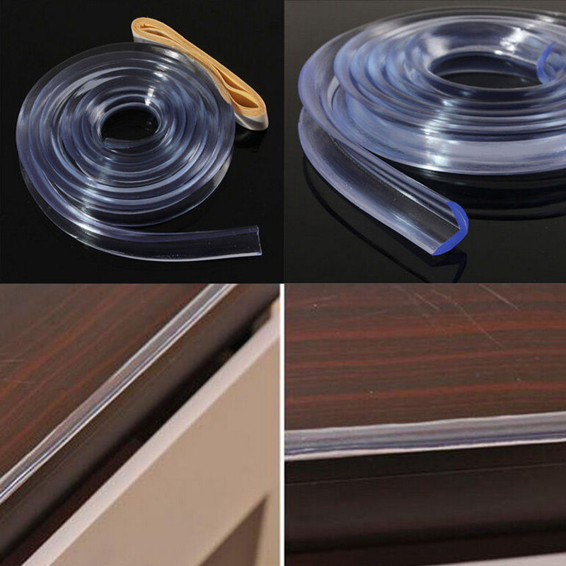 Baby Table Protection For Furniture Corner Guards Soft Silicone Cover For Furniture Wall Edge Bumper Strip Corner Protector 1 M