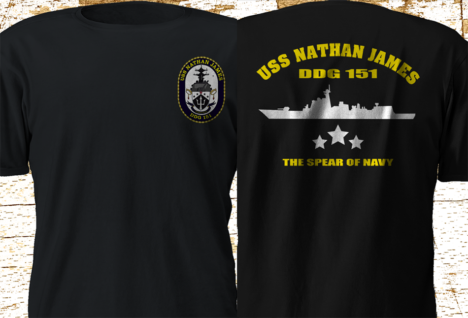 2019 Funny New Uss Nathan James Ddg-151 Us Navy Seal The Last Ship Tv Series T-Shirt S-3Xl Double Side Unisex Tee