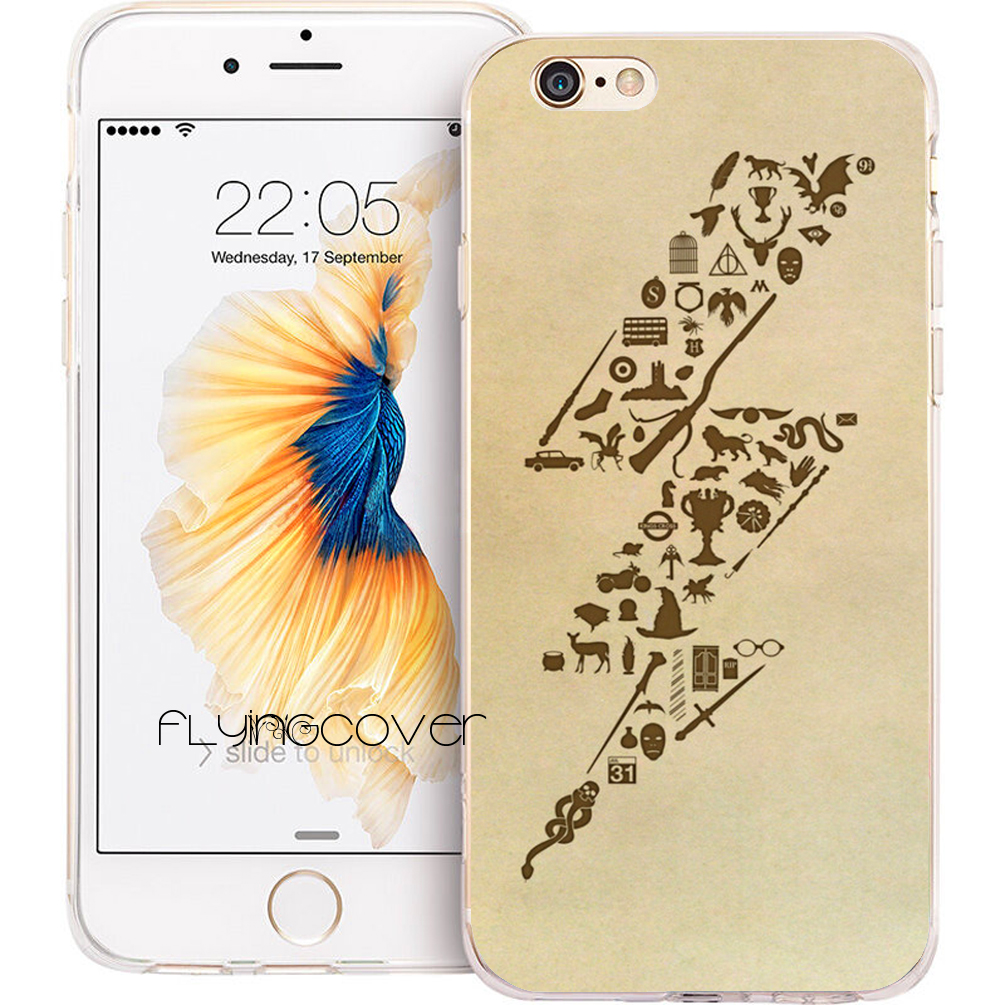 Coque Capa <font><b>Harry</b></font> <font><b>Potter</b></font> Clear Soft TPU Silicone Phone Cover for <font><b>iPhone</b></font> X 7 <font><b>8</b></font> Plus <font><b>Case</b></font> for <font><b>iPhone</b></font> 5S 5 SE 6 6S Plus 5C 4S 4 <font><b>Case</b></font> image