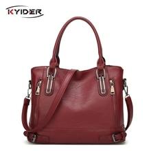 KYIDER New Leather Womens Handbag Luxury Women Shoulder Bags Designer Female Crossbody Messenger Bag Lady Totes