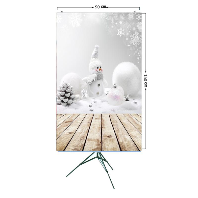 ALLOYSEED Snow Christmas Photo Background 3x5ft Photography Vinyl Background Christmas Theme Snowman Backdrops