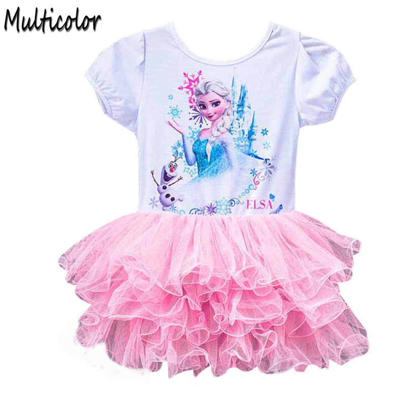 Hot Girl Children Baby Clothes Elza Dress For Kids Baby Party Dresses Custome Vestidos Summer 2017 Cospaly Elsa Anna 2-10T Dress цена