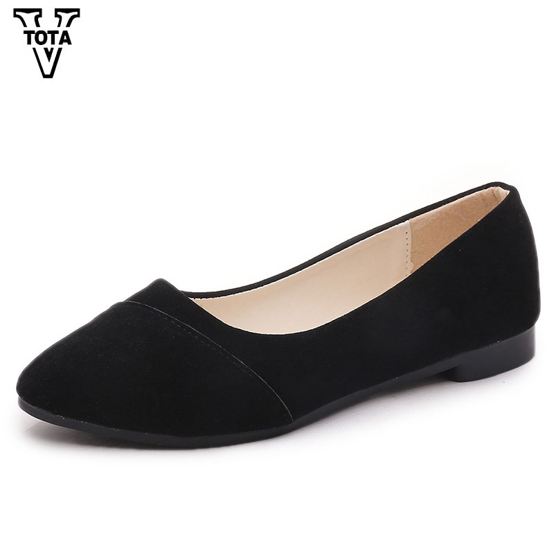 VTOTA New Shoes Woman Comfortable Flat women's shoes Solid Flats Flock Shoes Slip On Breathable Zapatillas Mujer Casual FC58 vtota spring autumn shoes woman butterfly knot flats women shoes slip on casual shoes flat zapatos mujer soft female shoes 606