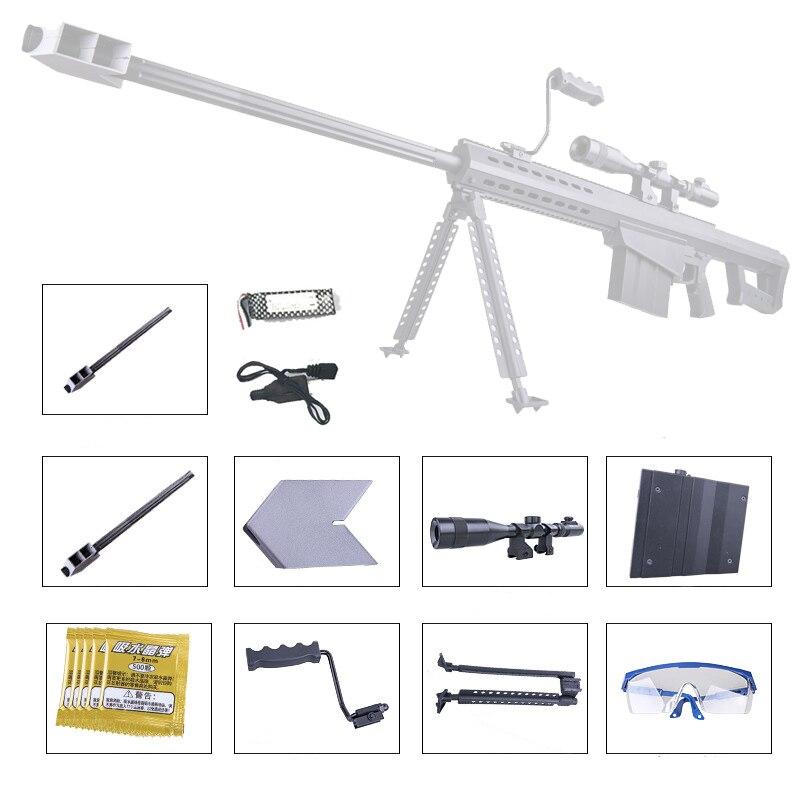 ZE HUA Barrett m82a1 pistolet à balles gel jouet pistolet à eau