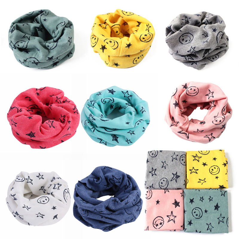 Apparel Accessories Girl's Accessories 7 Colors Winter Baby Warm Boys Girls Stars Collar Scarf Children O Ring Neck Scarves Hot Sell Ture 100% Guarantee
