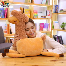 Plush Desert Camel Toy Triver Alpaca  Sheep Stuffed Animal Throw Pillow Cushion Kids Children Birthday Gift Home Shop Decor
