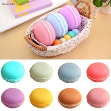 ISHOWTIENDA New Fashion 1pc 10*5cm Earphone SD Card Cute Macarons Bag Big Storage Box Case Carrying Pouch Hot 2017(China)