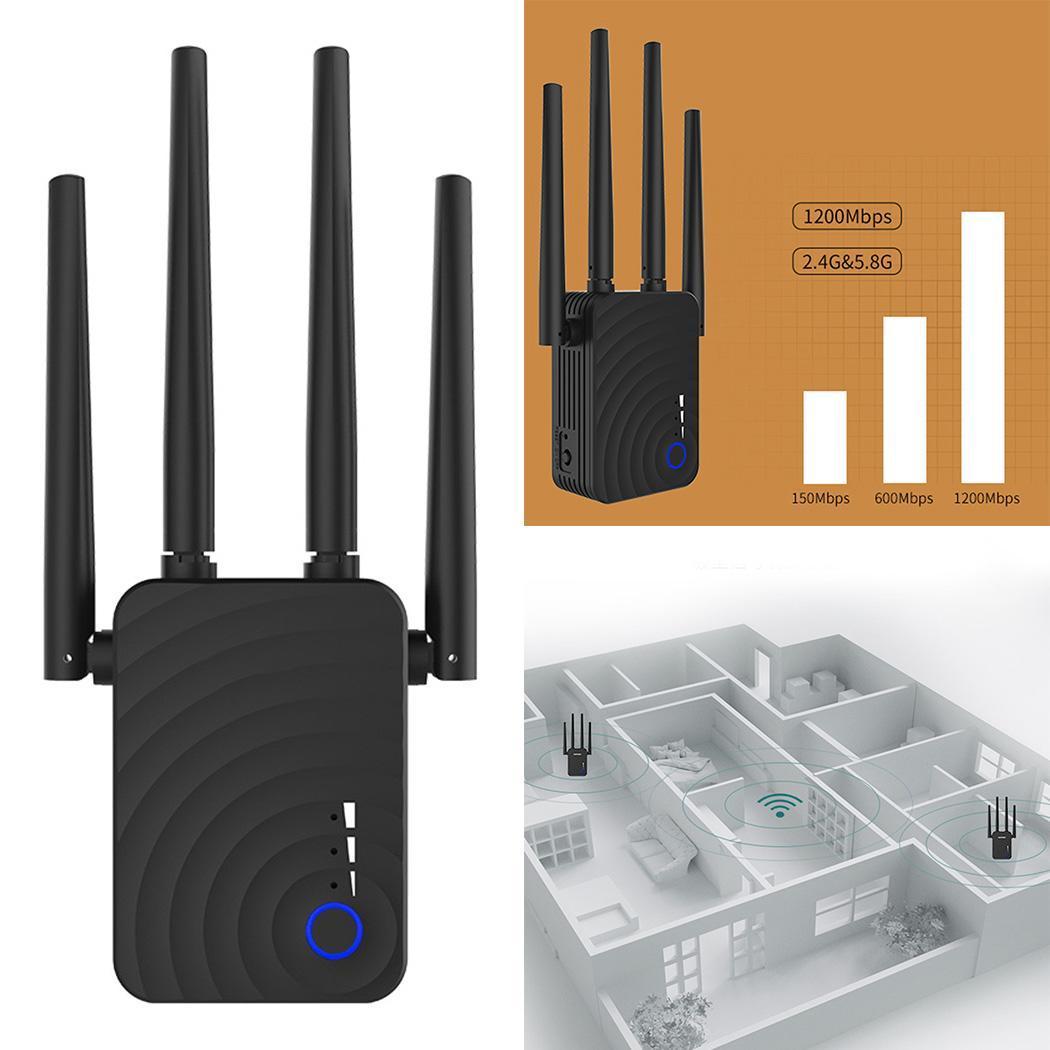 WR754AC 1200M routeur ap double bande routage maison 0.09kg Extender Signal US 0.1km amplificateur double antenne répéteur