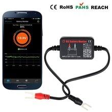 Bluetooth 4.0 Monitor de Batería de coche 12 V Batería Tester BM2 Accesorio Herramienta de Diagnóstico Analizador Digital de Monitoreo En Tiempo Real