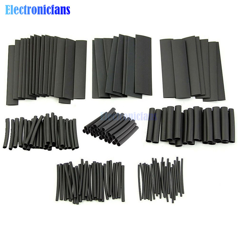 328PCS 127PCS Polyolefin Car Electrical Cable Tube Kits Heat Shrink Tube Tubing Sleeve Wrap Wire Assorted Tubing Polyolefin