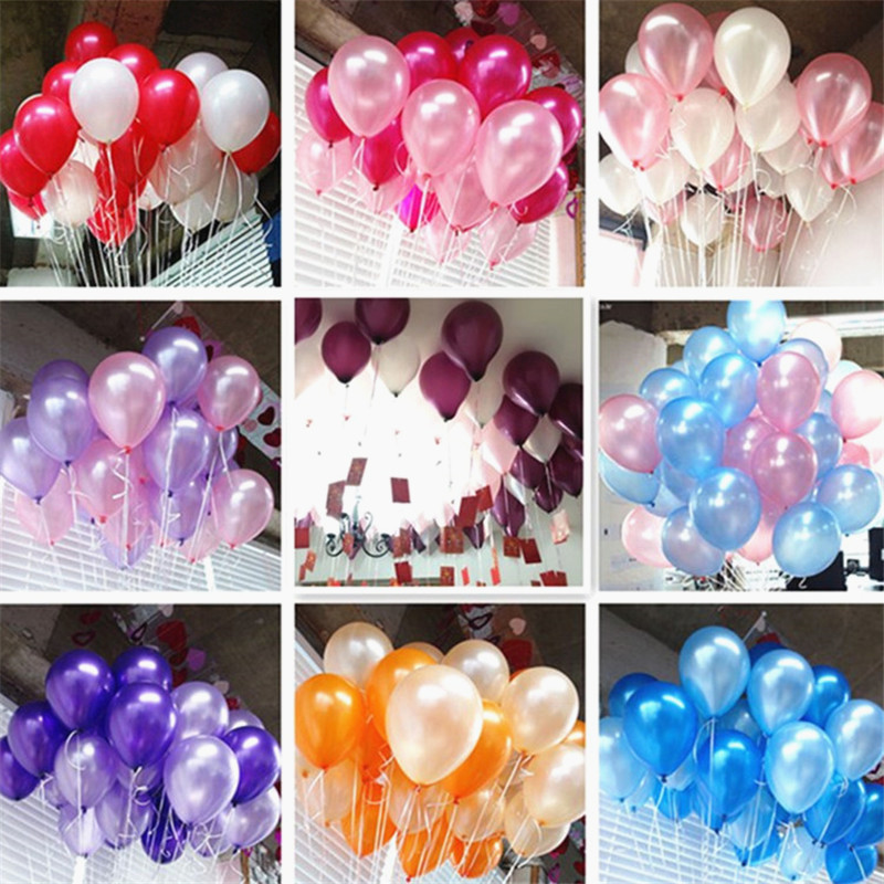 10inch Rose Red Latex Balloons Birthday Party Decorations Kids Wedding Balloons Ballon Marriage Baby Shower Air Balls Inflatable