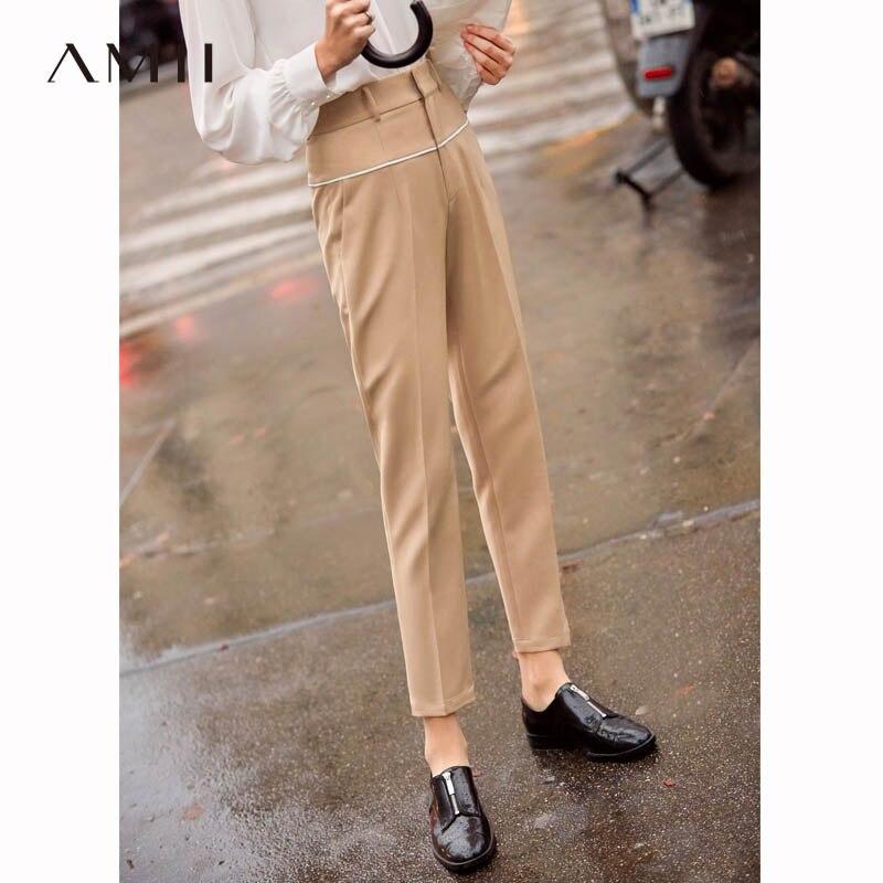 a9e78abeb67e8 Amii-Minimaliste-Noir-Pantalon-Femmes-2019-Printemps-Mi-Taille -Braguette-Glissi-re-Solide-Causal-Femmes-Cheville.jpg