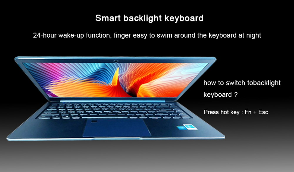 Backlight keyboard on iTSOHOO laptops