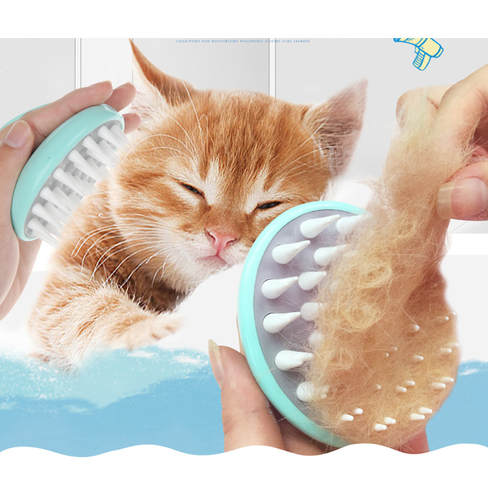HOT SALE 2018 New Arrival Pet Dog Cat Bath Brush Comb Remove Hair Fur Grooming Massaging Massage Mit #2DQ