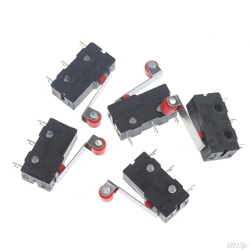 10Pcs/Set Mini 3-Pin Tact Switch KW11-3Z 5A 250V Round Handle Clock Micro switch New Drop ship kw11 7 1 micro switches pair ac 250v 16a