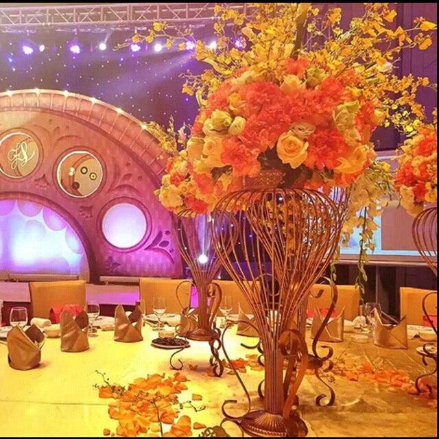 349 52 5 Pcs 2 6 Pieds 80 Cm Grand Mariage Decoratif Centres De Table De Cristal Vase Pour Les Mariages Table Vase Dans Vases De Maison