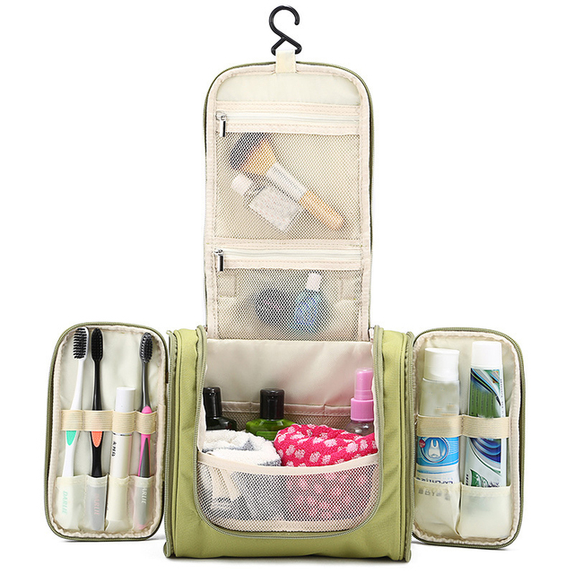 BAKINGCHEF Women's Men's Cosmetic Toiletry Organization Beauty Makeup Towel Storage Bags Box Case Outdoor Travel Overnight Items 3