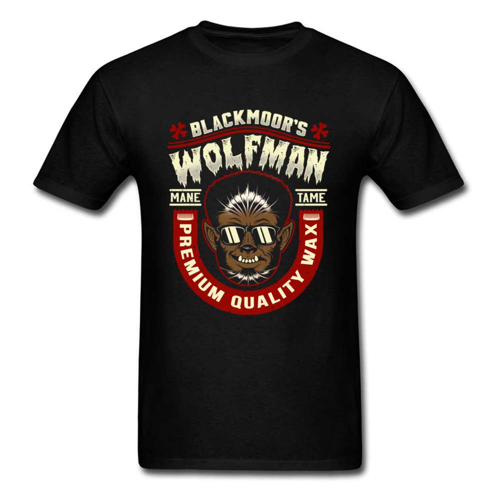 Wolfman Tame T-shirt Hip Hop Tees For Man Cool Summer Clothing Cotton Tops Short Sleeve T Shirt Vintage Style Funny