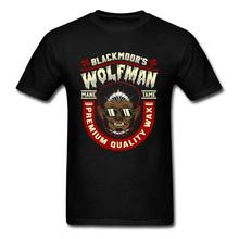 Wolfman Tame T-shirt Hip Hop koszulki dla człowieka fajne letnie ubrania bawełniane topy koszulka z krótkim rękawem w stylu Vintage śmieszne tanie tanio UVRCOS CN (pochodzenie) O-neck tops Tees Regular short sleeve Suknem COTTON SILK Poliester Włókno bambusowe Modalne CASHMERE