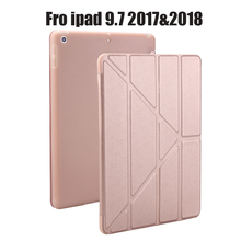 Case for New iPad 9.7 inch 2017 2018 Release, Soft silicone bottom+PU Leather Smart Cover Auto Sleep For New iPad 9.7″