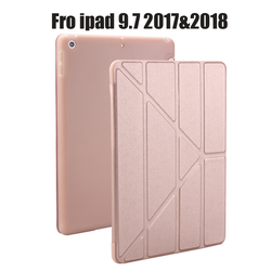 Case for New iPad 9.7 inch 2017 2018 Release, Soft silicone bottom+PU Leather Smart Cover Auto Sleep For New iPad 9.7