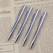 Металлическая шариковая ручка, Вращающаяся ручка карманного размера, портативная шариковая ручка, маленькая масляная ручка, изысканная короткая 1 шт