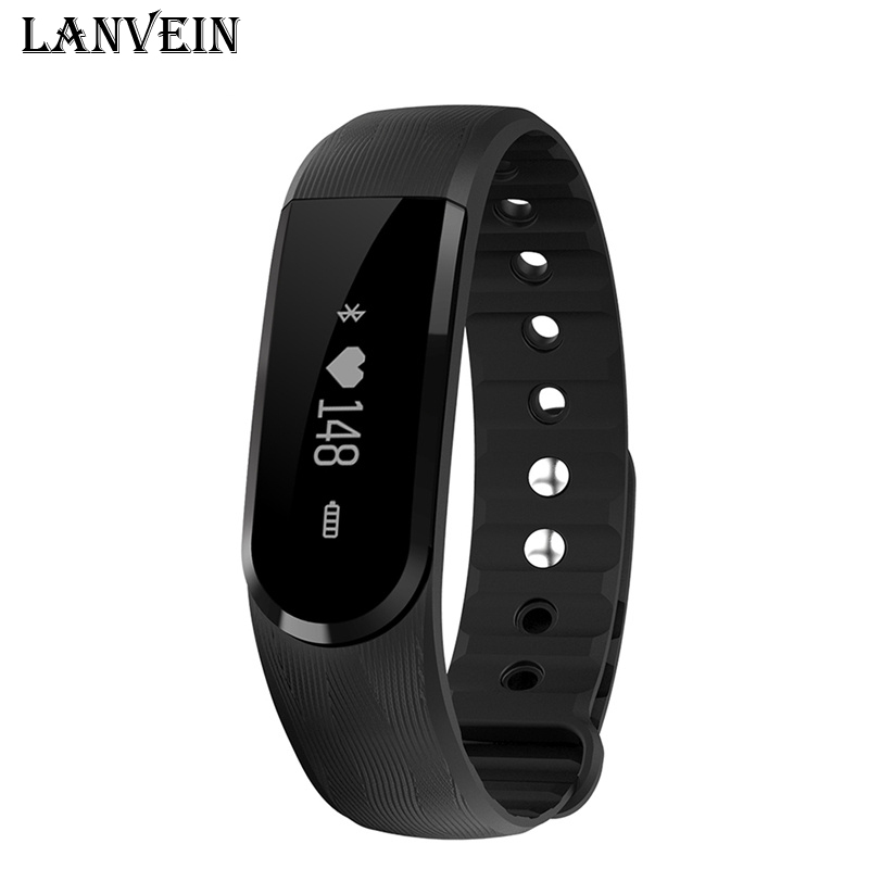 LANVEIN ID101 Smart Bracelet BT4 0 Heart Rate Monitor Smartband Pulse Sports Fitness Activity Tracker Wristband