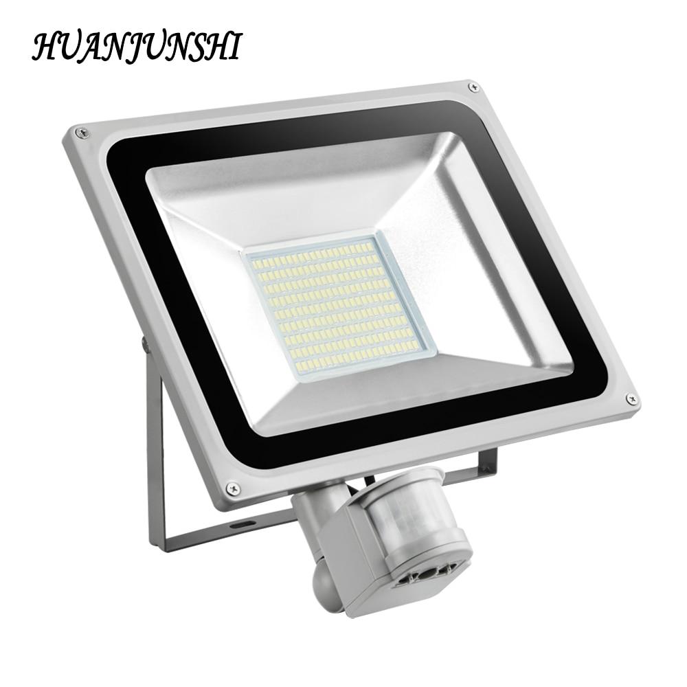 refletor led flood light 100w 220v led searchlight pir motion sensor floodlight ip65 waterproof. Black Bedroom Furniture Sets. Home Design Ideas