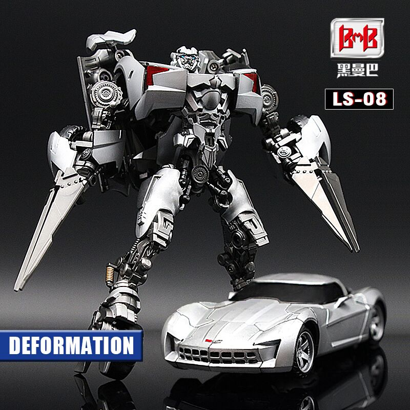 Transformation Sideswipe BMB LS08 LS-08 Black Mamba G1 Model Movie Film Alloy Voyager Action Figure Robot Toys Kids Gifts