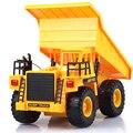 Rc 6 chnnel RC Inclinação Carrinho de Projeto de Simulação de carro de controle remoto recarregável brinquedos Dumper Truck Engenharia Veículo Transportador