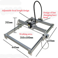 Free DHL 1PC 1000mW DIY Desktop Mini Laser Engraver Engraving Machine Laser Cutter Etcher 35X50cm Adjustable