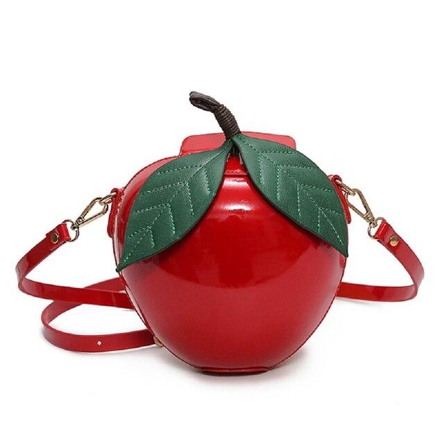 Женский Зеленый Apple Мешок Red Apple Crossbody Сумки Мода Милый Мультфильм Твердых Должны Мешки B-49