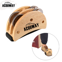 Acouway Cajon FOOT TAMBOURINE FOR CAJON EXTRA PERCUSSION FOR SOLO PERFORMERS