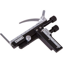Microscope Moveable Stage Professional Attachable Mechanical X-Y Caliper With Scale for