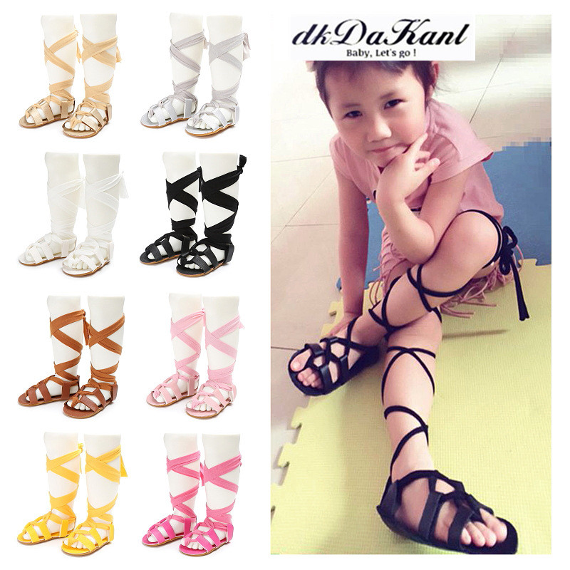 dkDaKanl 2018 Summer 0 1 Years Old Baby Girl Strap Tide Shoes Tendon End Anti Skid Shoes Baby Shoes FF606R