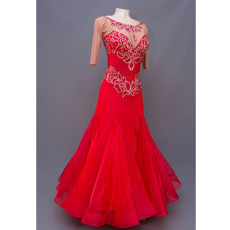 Modern Waltz Tango Ballroom Dance Dress,Smooth Ballroom Dress,Standard Ballroom Dress ,backless Dance Dress