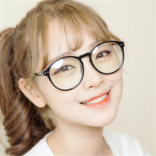 10pcs/lot Big Round Glasses Frame For Women Transparent eyeglasses men computer gaming reading nerd fake Myopia Optical eyewear