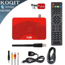 Mini Taille HD 1080 P DVB-S2 Numérique Par Satellite Récepteur TV Tuner Décodeur FTA Youtube USB PVR Cccam Newcam CS Puissance vu IPTV Récepteur
