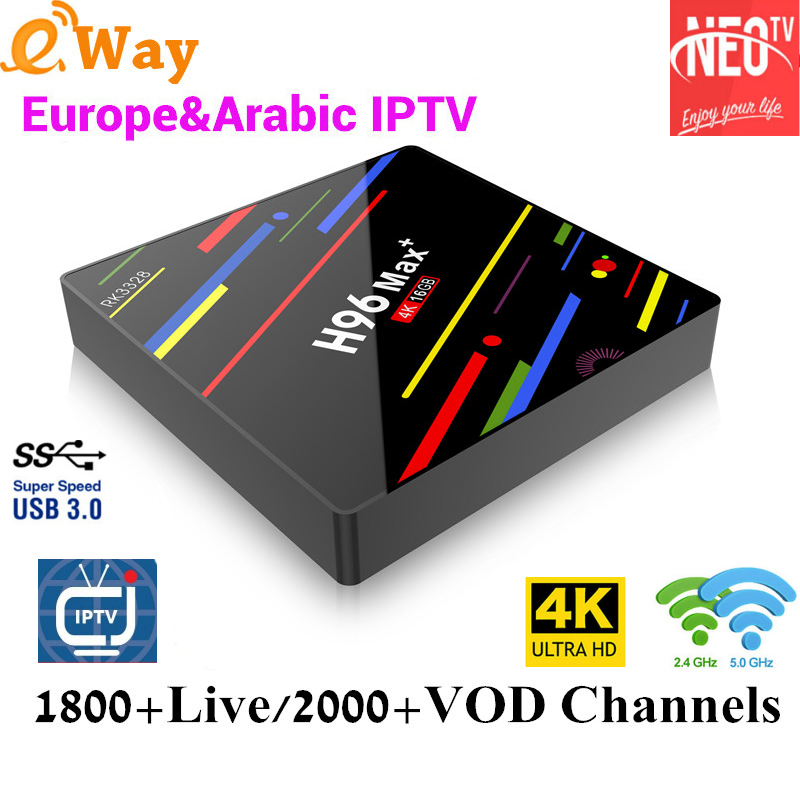 1800 Live TV 2000 VOD NEOTV PRO One year IPTV Code Support RK3328 TV Box Quad