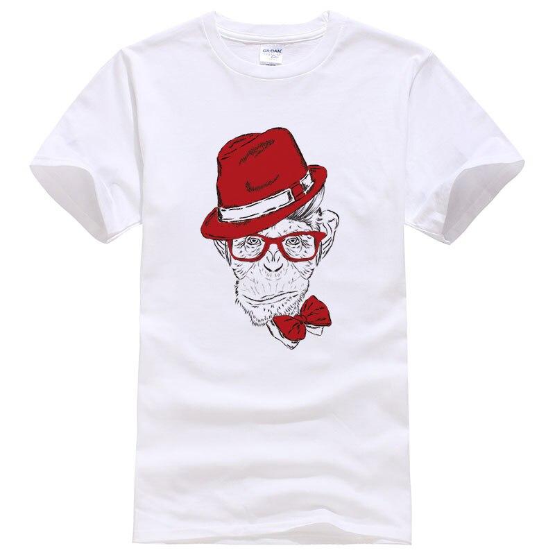men women T Shirts Fashion Wear a hat ape design t-shirt Funny Anmial orangutan/ Gorilla printed tees shirt man tops #99 ...