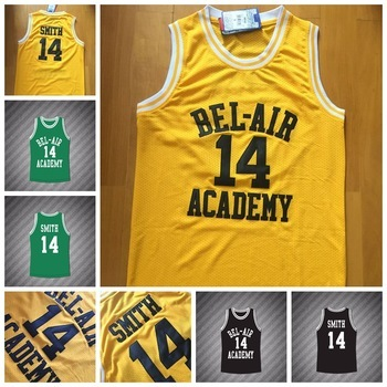 ae8ea76a9eb1 Hot Sale Fresh Prince Jersey 14 Will Smith Basketball Jersey