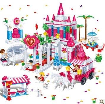 Banbao 6108 1128 pcs Wedding Blocks Toys for Girls Plastic Building Block Sets Educational DIY Bricks Toys banbao 6552 transportation 490 pcs diy plastic building block sets preschool educational diy bricks toys