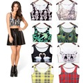 Black milk 2015 New Arrival Fashion Cartoon vest Women Sexy Tank cropped top camisole