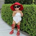 Baby Toddler Cross-Tied Gladiators Shoes Real Leather Girls Moccasins Shoes Soft Newborn Infant Girls Gladiator Rome Shoes