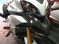 Front Beak, Pair For Ducati Multistrada 1200 2010 2013 Full Carbon Fiber 100%