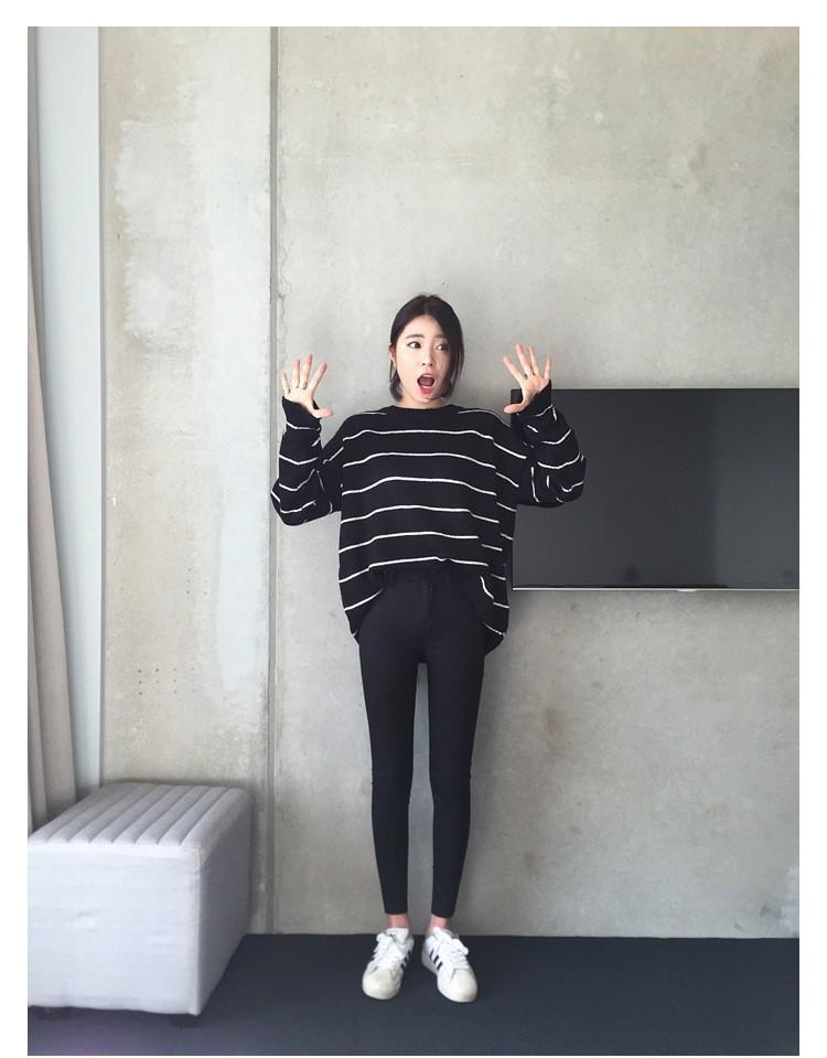 19 thin waist jeans nine Korean female grey legging feet pencil pants 9 black women jeans 8