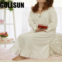 women Princess leisurewear satin falbala girl long nightgown royal nightdress lady long lounge women sleepwear