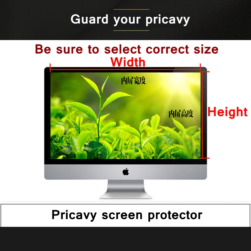 22(16:10) size 474x297mm Desktop Laptop computer privacy screen protector privacy window film Peep-proof protection film