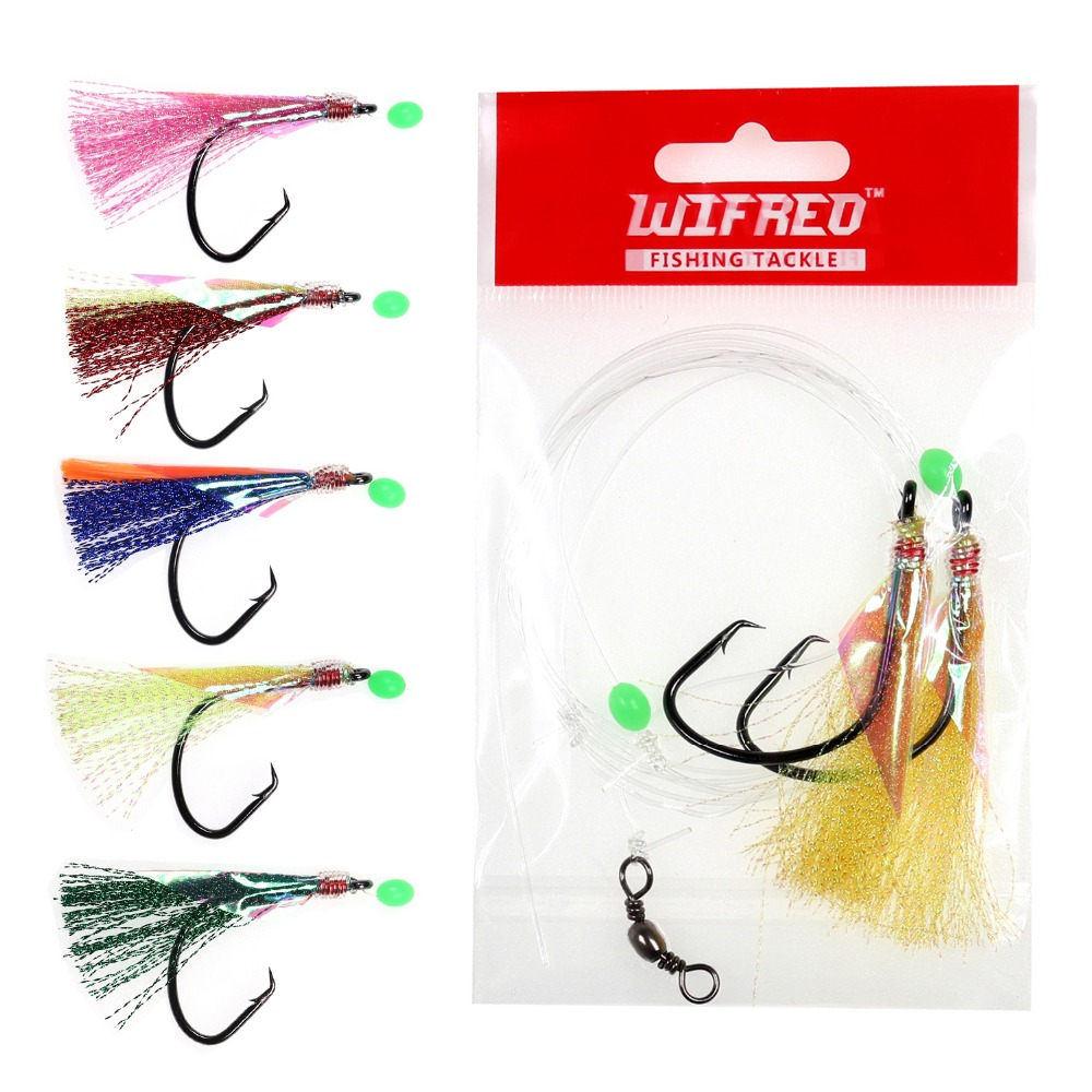 DAYLIGHT Rigs 3 Hooks or 6 Hooks Size 7//0,3//0 Mackeral Sea Fishing Rigs Lure